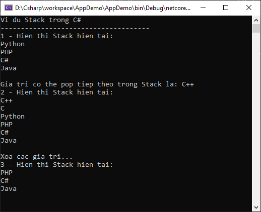 Stack trong C#
