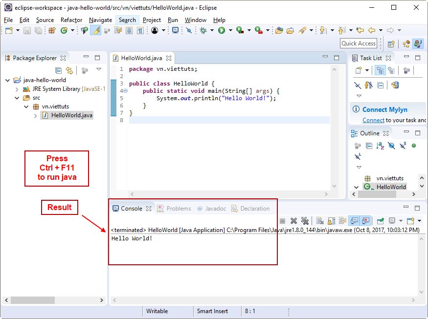 Run java project trong Eclipse