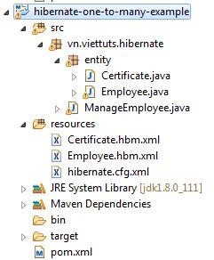 Hibernate one-to-many relationship với MySQL trên Eclipse - VietTuts