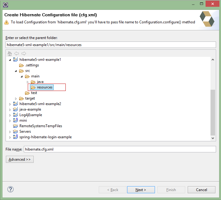 Generate Hibernate Configuration File With Hibernate Tools