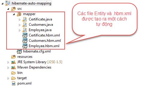 Sử dụng Hibernate Tools tạo các file mapping và annotation