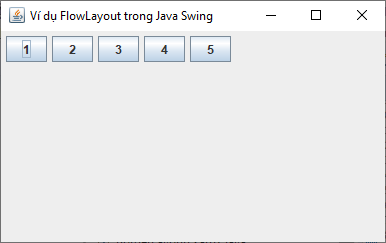 FlowLayout trong Java Swing