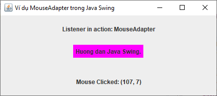 MouseAdapter trong Java Swing
