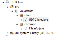 UDP transfer file example