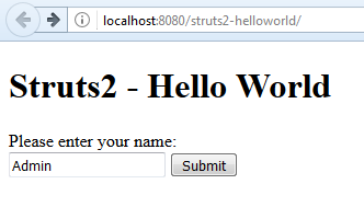 Struts2 - Hello World - 4