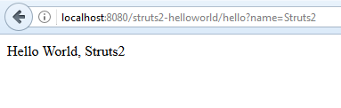 Struts2 - Hello World - 5